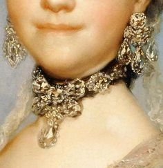 Marie-Louise de Parma as a Bride (detail) Anton Raphael Mengs 1765