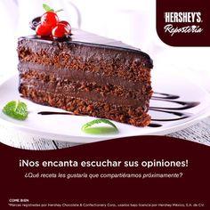 Comparte con nosotros tu ideas y disfruta de Hershey's® Repostería. #Hersheys #Chocolate #InspiraSonrisas #Repostería #Postres  #Delicioso