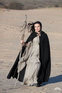 "Black Woolen Cloak ""Labyrinth"""