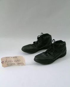 Management Mike's (Steve Zahn) hero, screen worn, black leather Shoes