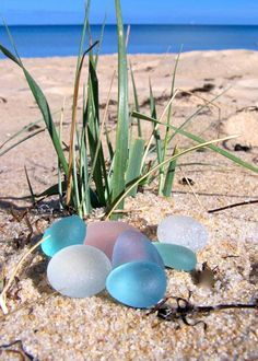 English Sea glass eggs
