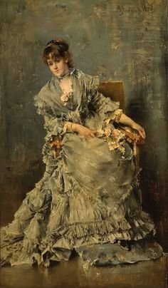 Alfred Stevens - The Attentive Listener 1879
