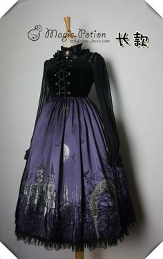 48748b53938 Magic Potion The Moon Castle Lace Up Lolita Jumper Dress - Restocked