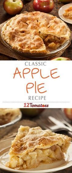 The perfect apple pie- This crust always turns out so well for me!