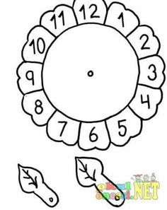 Clock craft idea for preschool kids Clock Worksheets, Preschool Worksheets, Matching Worksheets, Telling Time Activities, Preschool Activities, Telling Time For Kids, Math For Kids, Crafts For Kids, Sunflower Coloring Pages