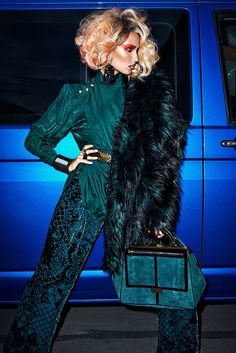 7c040457c37d0 Adriana Cernanova by Branislav Simoncik for Balmain x H&M collection in  ELLE Czech, November 2015