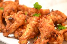 Oven-baked chicken wings, so crispy, you'd think they're fried!