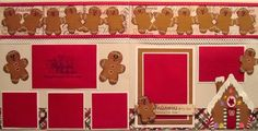 Cricut Christmas Scrapbook Layout. Gingerbread House, Cookies. http://www.mypapercrafting.com/2008/08/cricut-christmas-scrapbook-layouts.html
