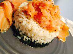 riso, spinaci e salmone affumicato