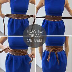How to tie an obi belt Clothing, Shoes & Jewelry - Women - women's belts - http://amzn.to/2kwF6LI