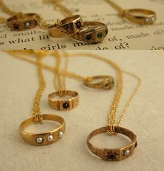 Victorian baby ring necklace