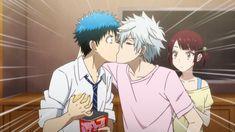 Ryuu Yamada and Toranosuke Miyamura kiss | Miyabi Ito (Itou) | Yamada-kun to 7-nin no Majo (and the Seven Witches)
