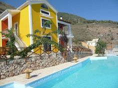 Sea view house on the Lefkada Island, Greece.