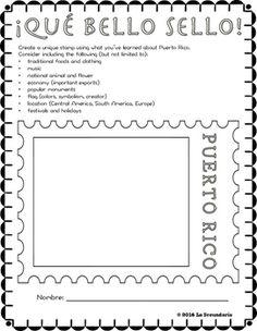 ¡Qué bello sello! - Puerto Rico by LA SECUNDARIA  | Teachers Pay Teachers