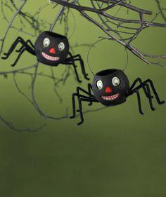Spider Bucket | Bethany Lowe Halloween Paper Mache Buckets
