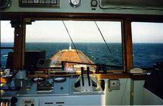 Lake Superior, view from the pilot house of the Columbia Star.