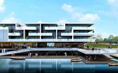 The Vomar hypermarket and apartments design exterior