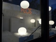 #Glo-ball window installation at #Flos shop at Dzine, San Francisco, CA