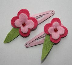 Flower Hair Clips - hair accessories