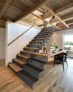 Architecture & Interior design / Far Pond by Bates Masi Architects Interior Stairs, Interior Exterior, Interior Design, Studio Interior, Interior Decorating, Decorating Ideas, Escalier Design, Floating Stairs, Waterfront Property