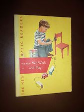 The New We Work and Play Basic Readers 1956 Soft Cover Book, Dick and Jane NICE!