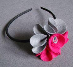 Toque haarband met bloem by Ifffka via DaWanda