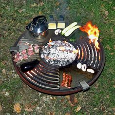 Ronny is telling you: Feuerküche Feuerschale Fire Cooking, Outdoor Cooking, Teppanyaki, Fire Pit Heater, Smeg Kitchen, Fire Pit Grill, Portable Bbq, Barbecue Pit, Diy Grill