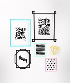 DIY Washi Tape Frames from @cydconverse