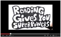 Reading Gives You Superpowers PSA by Dav Pilkey
