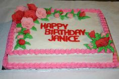 Pink and red fondant roses cake