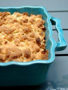 pomme, cassonade, farine de blé, beurre doux, cannelle, sucre vanillé, citron