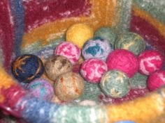felted wool marbles