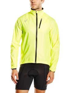 Rogelli ciclismo para hombre Chaqueta impermeable Ohio Amarillo Fluor-Yellow Talla:large