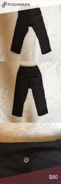 Lululemon black crops with mesh 🎀 lululemon crops 🎀 Size 4 🎀 worn a couple times 🎀 black with mesh 🎀Please ask for additional pictures, measurements, or ask questions before purchase. 🎀No trades or other apps. 🎀Ships next business day, unless noted in my closet  🎀Reasonable offers accepted through the offer button 🎀Five star rating 🎀Bundle for discount lululemon athletica Pants