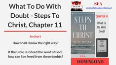 What To Do With Doubt - Steps To Christ, Chapter 11 | SFA
