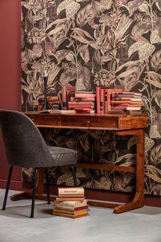 Black Leather Dining Chairs, Old School Desks, Solid Wood, Interior, Furniture, Vintage, Color, Castle, Home Decor
