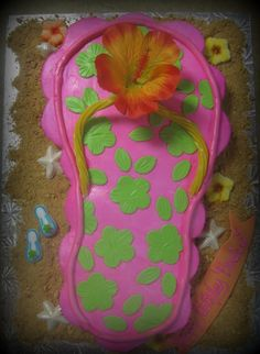Flip Flop Cupcake Cake for summer birthday parties..
