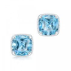 Birks Bee Chic® Silver Blue Topaz Stud Earrings