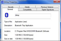 If you use Bluetooth Software from WIDCOMM, Inc. you may experience bttray.exe error. The process may fail to initialize or can't be started if there is something wrong with your computer. The Bluetooth software might stop working due to this error. To prevent your computer from further damage, please fix bttray.exe error as soon as possible.