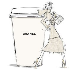 Today's coffee has to be French, so a chic CHANEL LATTE it is!