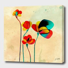 Discover «Exotic Watercolor Flower», Numbered Edition Canvas Print by DistinctyDesign - From $49 - Curioos