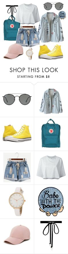 """idgf"" by barbmiranda ❤ liked on Polyvore featuring Ray-Ban, Converse, Fjällräven, Puma, Sole Society and Joomi Lim"