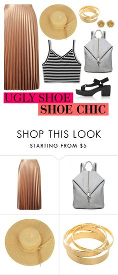 """""""Ugly Shoe - Contest"""" by gracesteer ❤ liked on Polyvore featuring Miss Selfridge, Miriam Haskell and uglyshoe"""