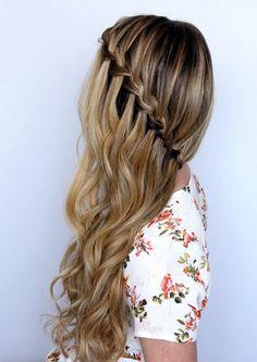 20 Peinados sencillos y medio pliegues para cada ocasión