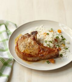 Six ingredients and you've got this recipe covered. Even better: The apricot pan sauce—simply dry white wine, apricot jam and pork juices—pairs fabulously with just about any protein. Get the recipe.