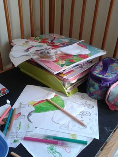 A place to play and learn ~ turning a cot into a desk on my blog