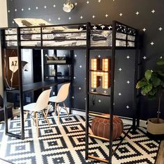 Looking for loft bed design ideas to try? From a reading nook, a lounge to a home office, our loft bed ideas here will inspire you Room Design Bedroom, Girl Bedroom Designs, Small Room Bedroom, Room Ideas Bedroom, Bedroom Decor, Teen Bedroom, Master Bedroom, Small Room Design, Kids Room Design