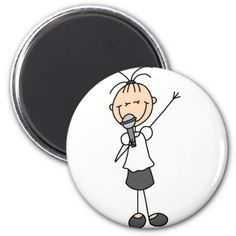 Stick Figure Singer Magnet Magnets