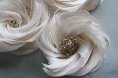 Feather Flower Pattern Tutorial : Arabella Rose Plus Diy Wedding, Headband, and accessories Tutorials. $9.00, via Etsy.