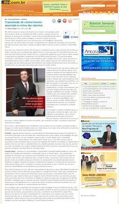 Título:Transmissão de conhecimento associada à rotina de talentos Veículo: Portal RH. Data: 26/06/2015. Cliente: Sapore